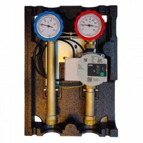 Collecteur polymère modulable pour plancher chauffant et refroidissant 2 à 12 départs
