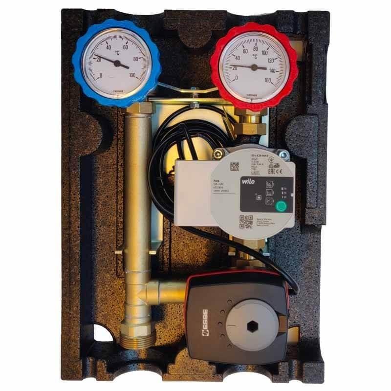 Kit plancher chauffant hydraulique 30 à 120 m² Collecteur Inox, tube PER
