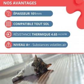 Film chauffant plancher flottant longueur 7 m 130 W/m² largeur 1 m