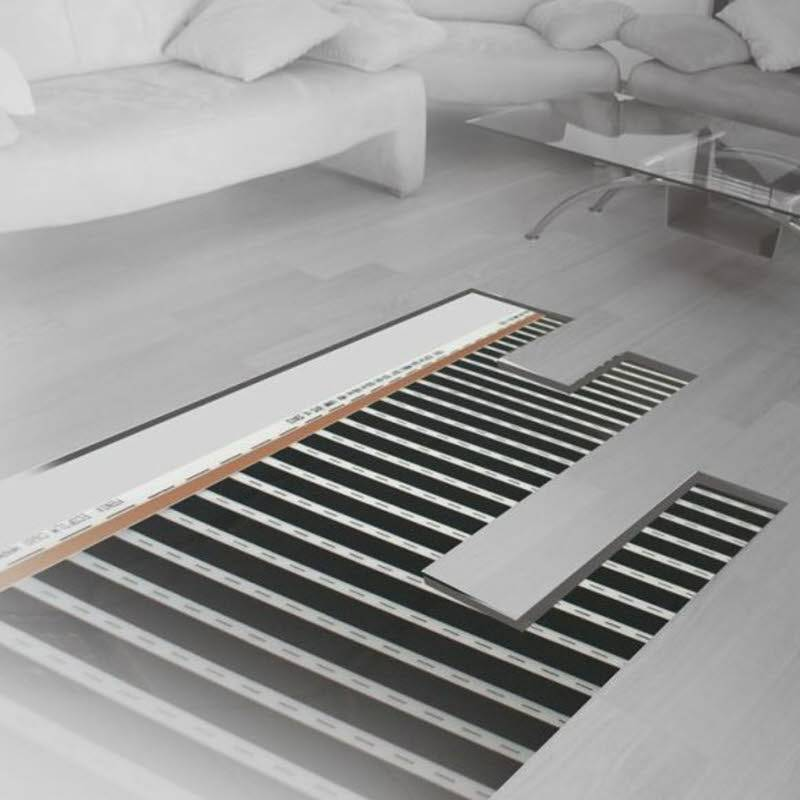 film chauffant plancher flottant 130 w m largeur 1m longueur 5 5m. Black Bedroom Furniture Sets. Home Design Ideas