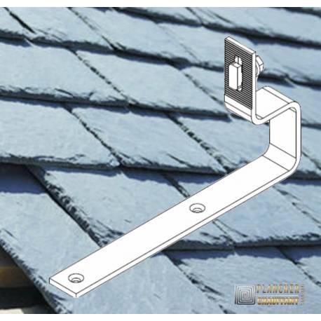 Supports toiture pour kit solaires autonomes ardoises - Orientation portrait