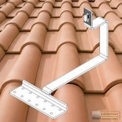 Supports toitures tuiles romanes pour kits solaires autonomes