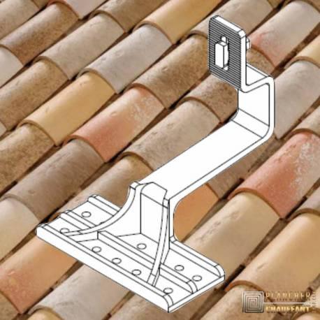 Supports toiture pour kit solaires autonomes tuiles canal - Orientation portrait