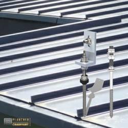 Supports toitures bac acier / fibrociment pour kits solaires autonomes