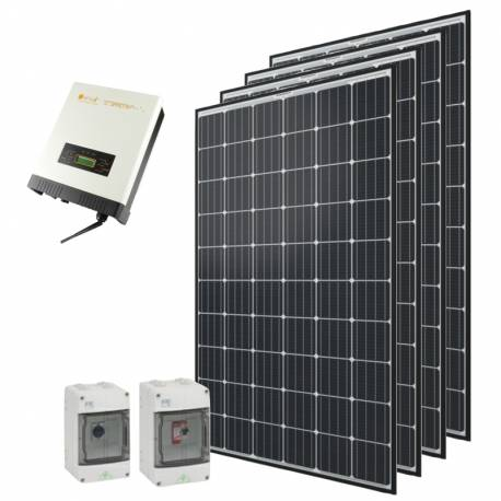 Kit autoconsommation solaire Qcells 1200 Wc onduleur central Omnik