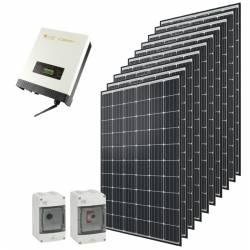 Kit autoconsommation solaire Qcells 3000 Wc onduleur central Omnik