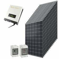 Kit autoconsommation solaire Qcells 4500 Wc onduleur central Omnik