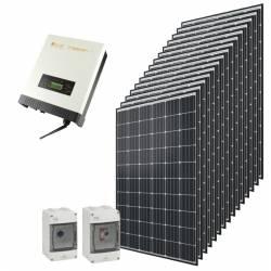 Kit autoconsommation solaire Qcells 9000 Wc onduleur central Omnik