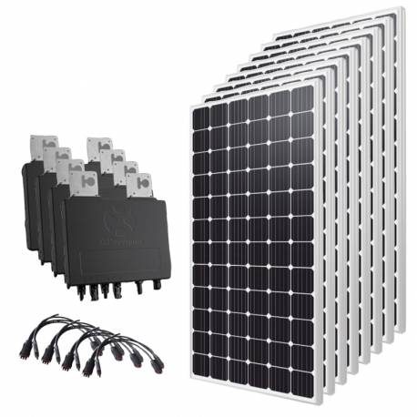 Kit solaire autoconsommation 2400 Wc