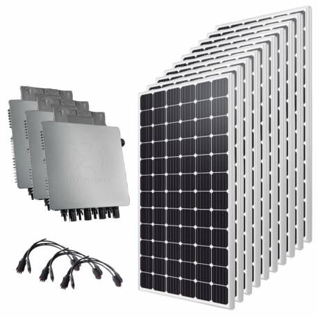Kit solaire autoconsommation 9000 Wc Triphasé 380V