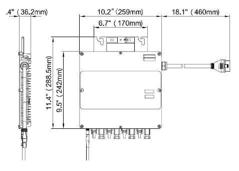 schéma micro-onduleur APSsystems YC1000