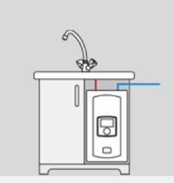 Applications du chauffe-eau électrique instantané à puissance réglable Kospel EPME Electronic LCD