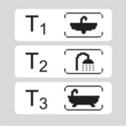 Mémoire des 3 températures les plus souvent utilisées