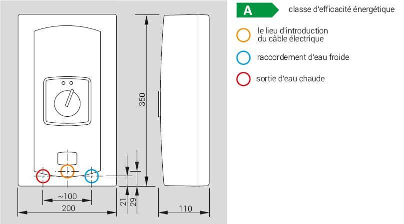 Chauffe eau instantan/é /électrique monophas/é Flow 7,5 ou 9kW Classe /énerg/étique A 7500 Watt