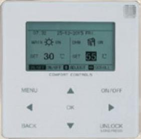 Télécommande de la pompe à chaleur 5kW réversible monobloc