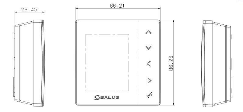 schéma du thermostat numérique sans fil salus VS20WRF