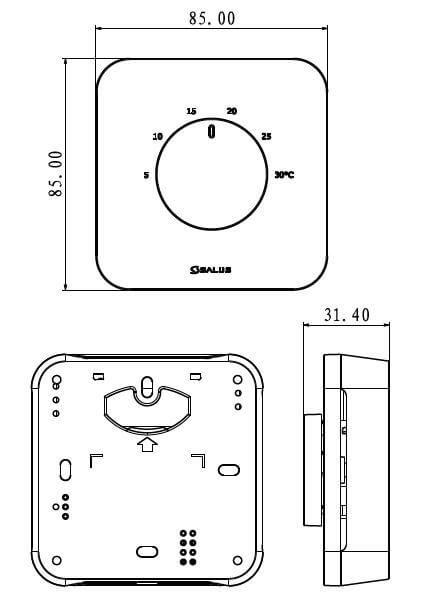 schema thermostat cadran HTR230