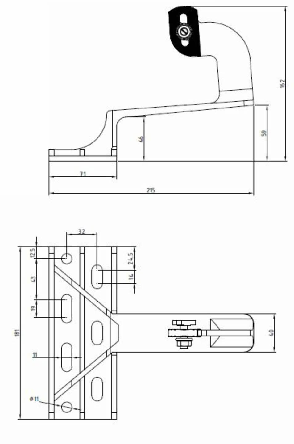 Dimensions support tuiles canal paysage