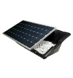 bac a lester au sol pour panneaux solaires