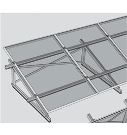 fixation au sol trisole pour panneaux solaires